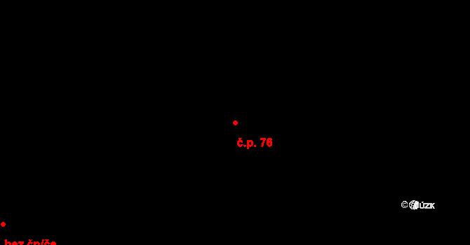 Květná 76 na parcele st. 76 v KÚ Květná, Katastrální mapa