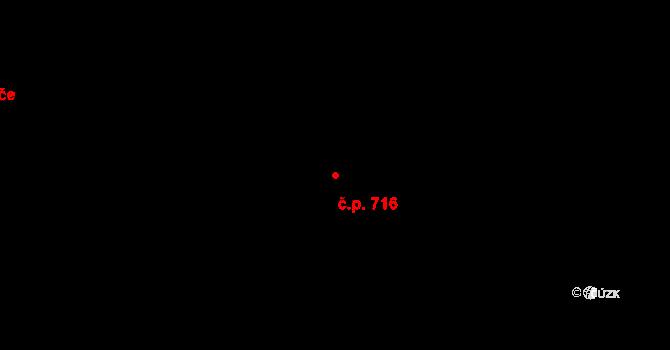 Vokovice 716, Praha na parcele st. 830/1 v KÚ Vokovice, Katastrální mapa