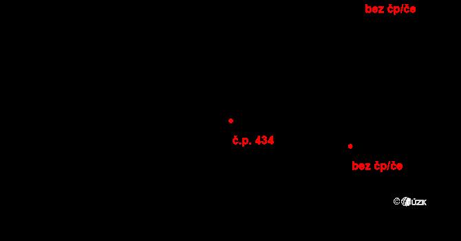 České Budějovice 3 434, České Budějovice na parcele st. 1165 v KÚ České Budějovice 3, Katastrální mapa