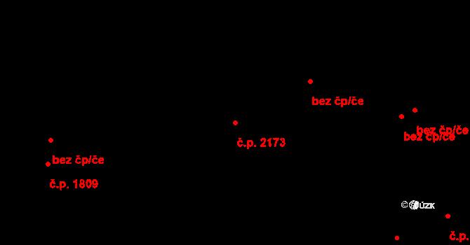 Východní Předměstí 2173, Plzeň na parcele st. 2712/2 v KÚ Plzeň, Katastrální mapa