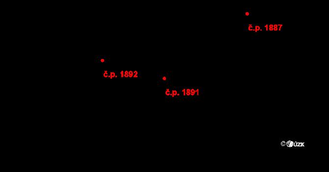 Bílé Předměstí 1891, Pardubice na parcele st. 10971 v KÚ Pardubice, Katastrální mapa