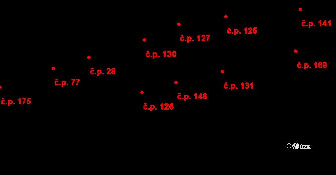 Davle 146 na parcele st. 382 v KÚ Davle, Katastrální mapa