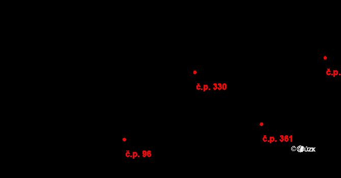 Bílý Potok 330 na parcele st. 393 v KÚ Bílý Potok pod Smrkem, Katastrální mapa