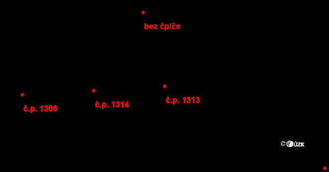 České Budějovice 2 1313, České Budějovice na parcele st. 2061/799 v KÚ České Budějovice 2, Katastrální mapa