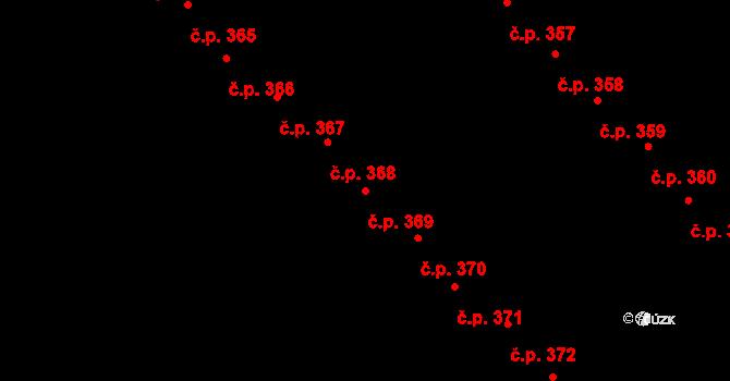 Staré Hory 369, Jihlava na parcele st. 590 v KÚ Staré Hory, Katastrální mapa