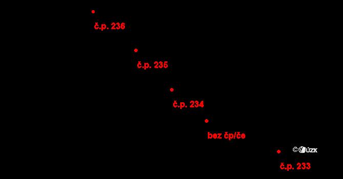 Miroslav 234 na parcele st. 959 v KÚ Miroslav, Katastrální mapa
