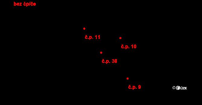 Lhota 38 na parcele st. 39/1 v KÚ Lhota u Dřís, Katastrální mapa