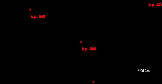 Povel 549, Olomouc na parcele st. 971 v KÚ Povel, Katastrální mapa