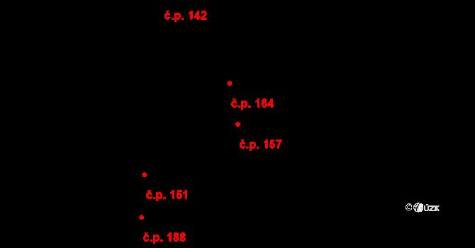 Daskabát 157 na parcele st. 190/1 v KÚ Daskabát, Katastrální mapa