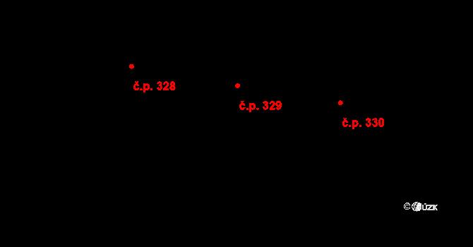 Radim 329 na parcele st. 429 v KÚ Radim u Kolína, Katastrální mapa