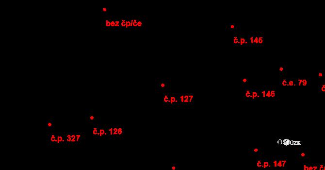 Horní Blatná 127 na parcele st. 102/1 v KÚ Horní Blatná, Katastrální mapa