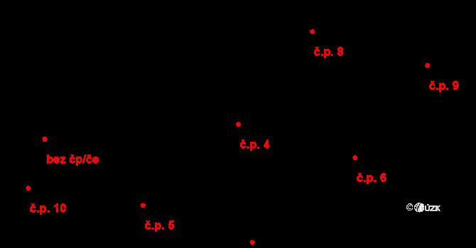 Horní Paseky 4, Aš na parcele st. 106 v KÚ Horní Paseky, Katastrální mapa