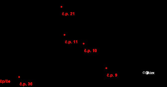 Sedlejov 10 na parcele st. 10 v KÚ Sedlejov, Katastrální mapa
