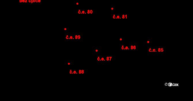 Prštné 87, Zlín na parcele st. 863 v KÚ Prštné, Katastrální mapa