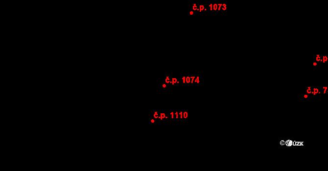Nivnice 1074 na parcele st. 1981/84 v KÚ Nivnice, Katastrální mapa