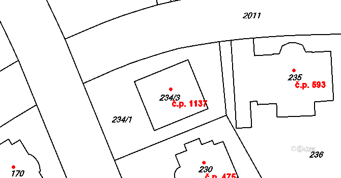 Bubeneč 1137, Praha, Katastrální mapa