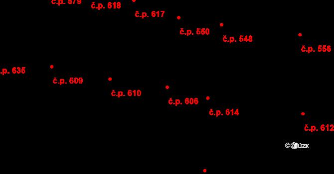 Velké Pavlovice 606 na parcele st. 983 v KÚ Velké Pavlovice, Katastrální mapa