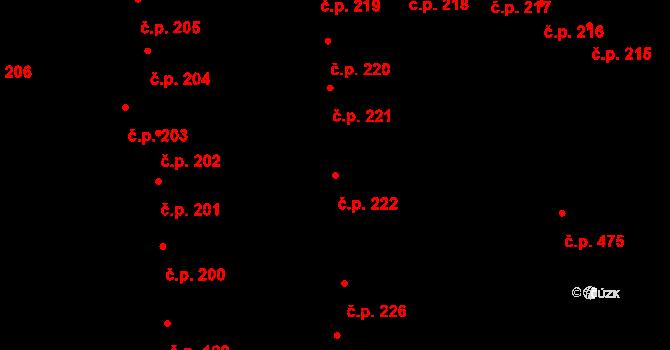 České Budějovice 1 222, České Budějovice na parcele st. 278 v KÚ České Budějovice 1, Katastrální mapa