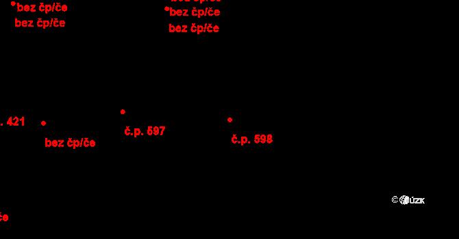 Liberec VII-Horní Růžodol 598, Liberec na parcele st. 868/6 v KÚ Horní Růžodol, Katastrální mapa
