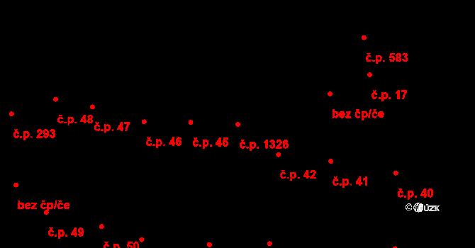 Hodolany 1326, Olomouc na parcele st. 2576 v KÚ Hodolany, Katastrální mapa