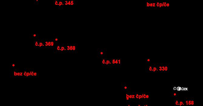 Litovel 541 na parcele st. 1175 v KÚ Litovel, Katastrální mapa