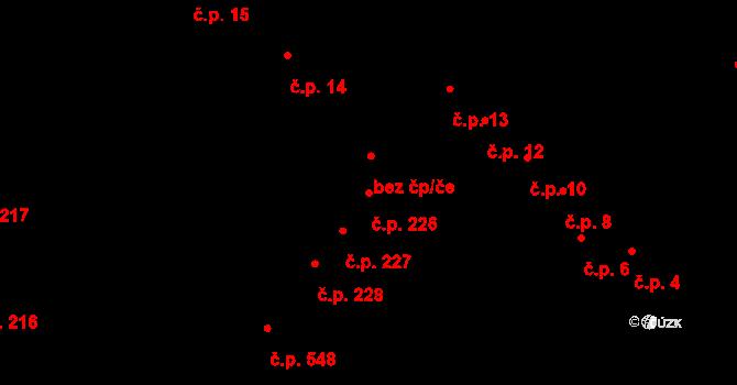 Nový Lískovec 226, Brno na parcele st. 915 v KÚ Nový Lískovec, Katastrální mapa