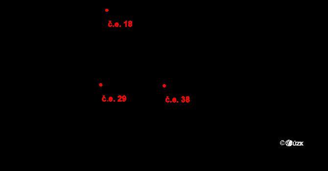 Broumova Lhota 38, Krásná Hora na parcele st. 151/10 v KÚ Broumova Lhota, Katastrální mapa