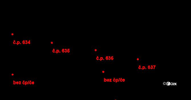 Litomyšl-Město 636, Litomyšl na parcele st. 992 v KÚ Litomyšl, Katastrální mapa