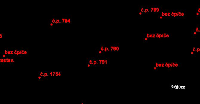 České Budějovice 7 790, České Budějovice na parcele st. 1775/2 v KÚ České Budějovice 7, Katastrální mapa