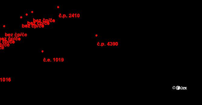 Židenice 4390, Brno na parcele st. 7551/26 v KÚ Židenice, Katastrální mapa