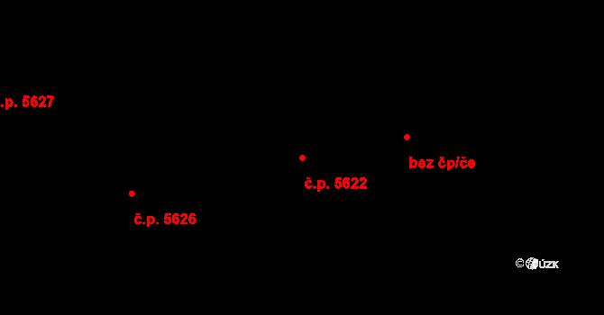 Jihlava 5622 na parcele st. 2876/10 v KÚ Jihlava, Katastrální mapa