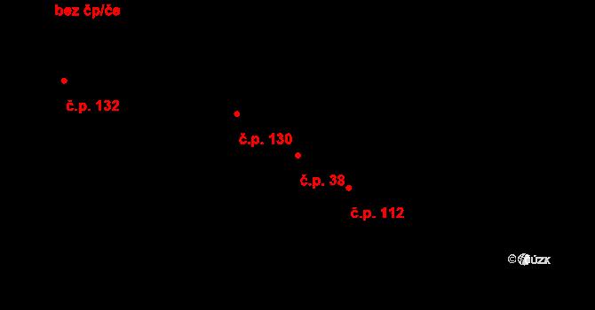 Jestřabí Lhota 38 na parcele st. 44/3 v KÚ Jestřabí Lhota, Katastrální mapa