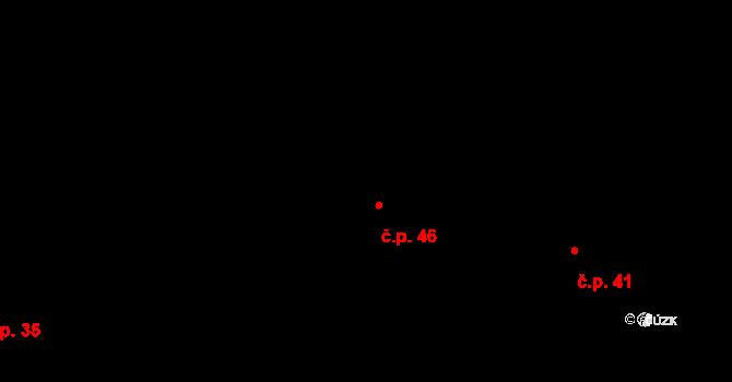 Kosov 46, Jihlava na parcele st. 269/82 v KÚ Kosov u Jihlavy, Katastrální mapa