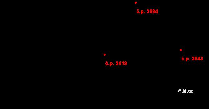 Šumperk 3118 na parcele st. 6051 v KÚ Šumperk, Katastrální mapa