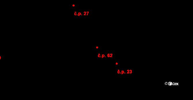 Vlčnov 62, Chrudim na parcele st. 122 v KÚ Vlčnov u Chrudimi, Katastrální mapa