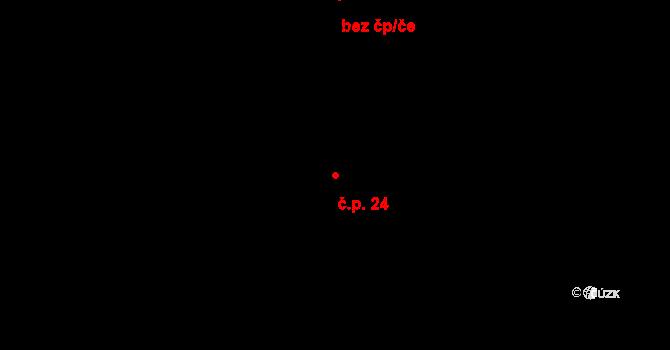 Holešovice 24, Praha na parcele st. 547/2 v KÚ Holešovice, Katastrální mapa