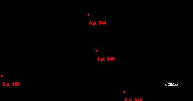 Dlouhá Třebová 346 na parcele st. 542 v KÚ Dlouhá Třebová, Katastrální mapa