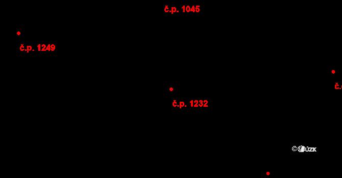 Malenovice 1232, Zlín na parcele st. 1070 v KÚ Malenovice u Zlína, Katastrální mapa