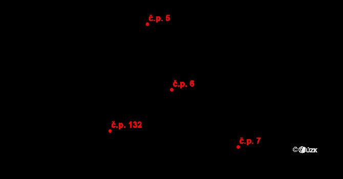 Nová Ves u Nového Města na Moravě 6 na parcele st. 321 v KÚ Nová Ves u Nového Města na Moravě, Katastrální mapa