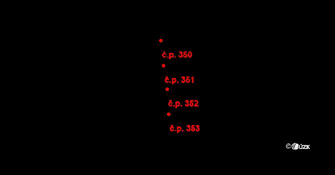 Hořejší Předměstí 352, Domažlice na parcele st. 4443 v KÚ Domažlice, Katastrální mapa