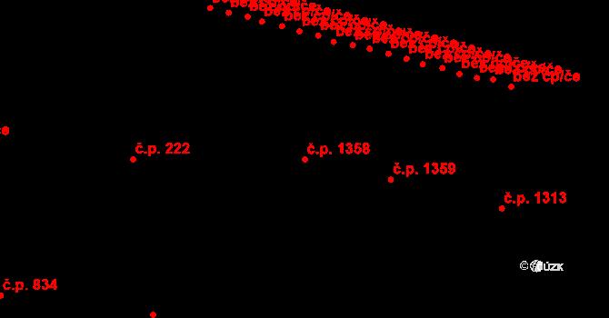 Liberec XIV-Ruprechtice 1358, Liberec na parcele st. 780/10 v KÚ Ruprechtice, Katastrální mapa