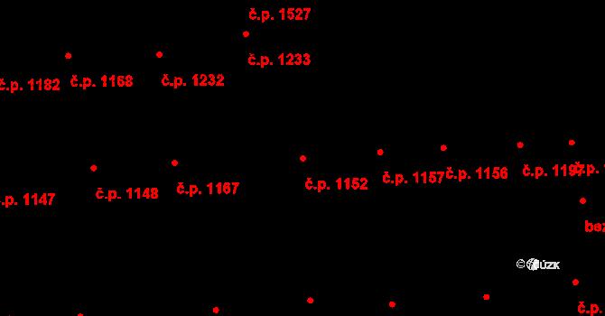 Švermov 1152, Kladno na parcele st. 134 v KÚ Hnidousy, Katastrální mapa