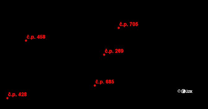 Nivnice 269 na parcele st. 2049 v KÚ Nivnice, Katastrální mapa