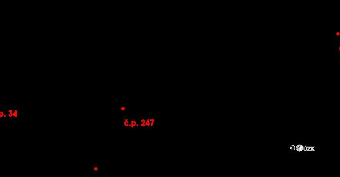 Davle 247 na parcele st. 151 v KÚ Davle, Katastrální mapa
