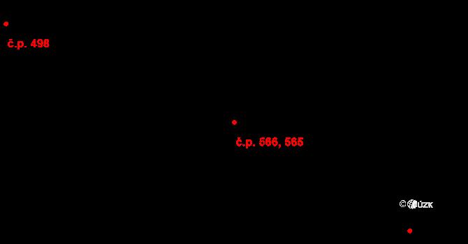 Štětí 565,566 na parcele st. 899 v KÚ Štětí I, Katastrální mapa