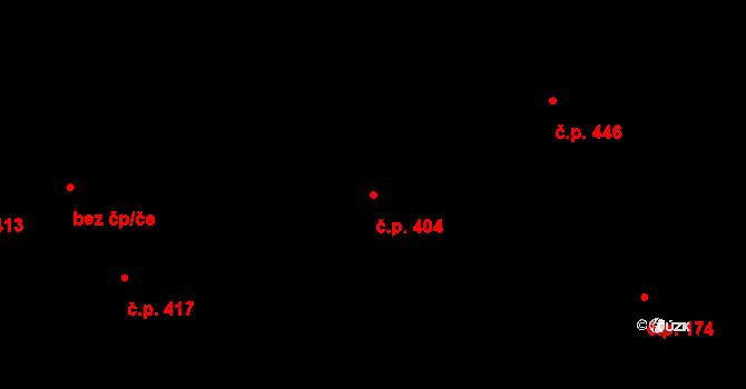 Mosty 404, Český Těšín na parcele st. 1146/7 v KÚ Mosty u Českého Těšína, Katastrální mapa