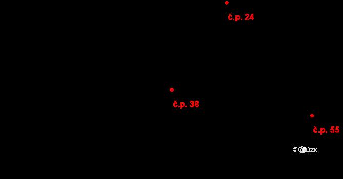 Vlčkovice 38, Praskačka na parcele st. 115/1 v KÚ Vlčkovice u Praskačky, Katastrální mapa