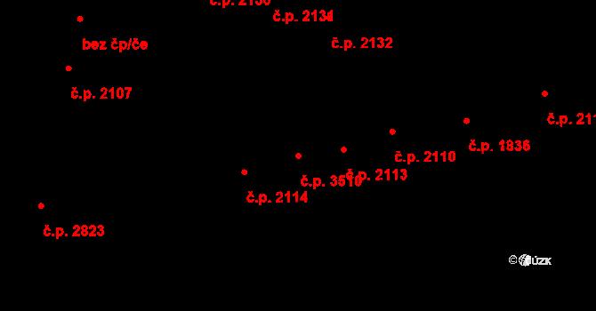 Havlíčkův Brod 3510 na parcele st. 629/1 v KÚ Havlíčkův Brod, Katastrální mapa