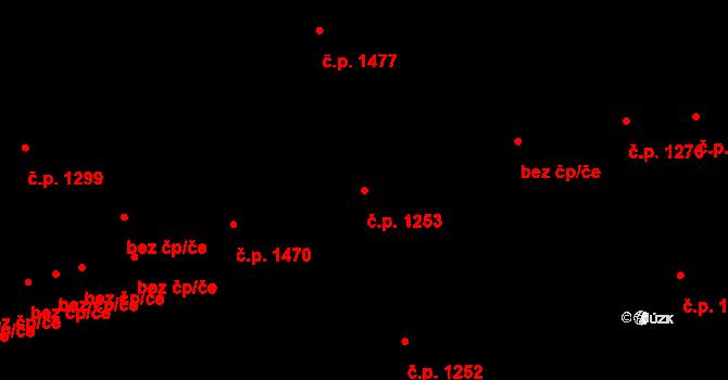 Švermov 1253, Kladno na parcele st. 239 v KÚ Hnidousy, Katastrální mapa