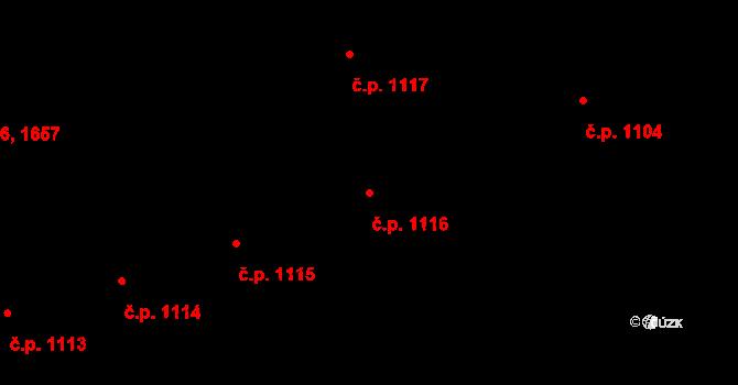 Česká Třebová 1116 na parcele st. 1141 v KÚ Česká Třebová, Katastrální mapa